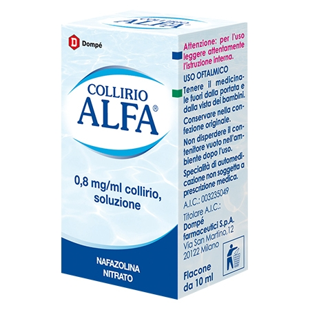 Collirio alfa 0,8mg/ml 10 ml