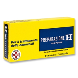 Preparazione H 12 supposte
