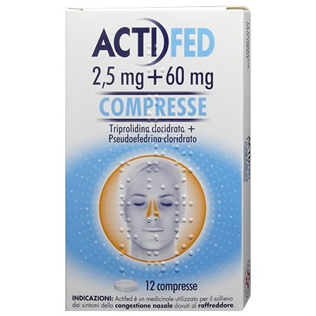 Actifed 2,5+60 mg 12 compresse