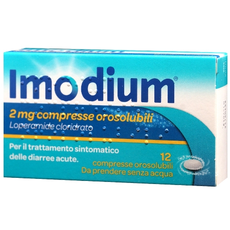 imodium 2 mg 12 compresse orosolubili