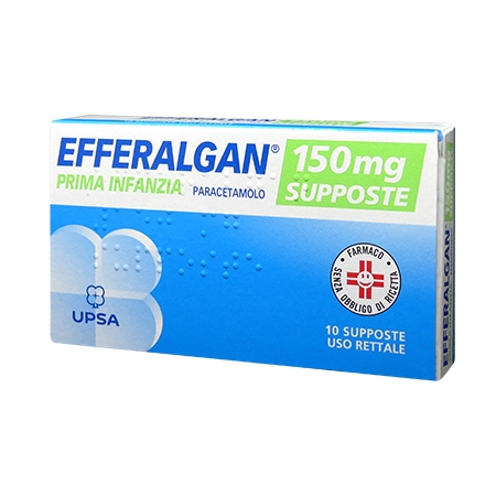 Efferalgan 10 supposte 150 mg
