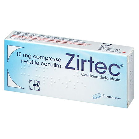 Zirtec 7 compresse rivestite 10 mg