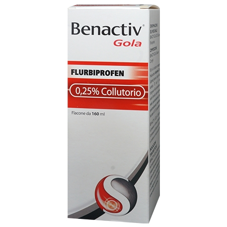 Benactiv gola colluttorio 160 ml 2,5 mg/ml
