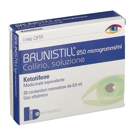 Brunistill collirio 20 flaconcini 0,5 ml 0,025%