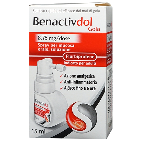 Benactivdol Gola spray 8,75mg/dose 15 ml