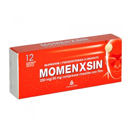 Momenxsin 12 compresse 200 mg+30 mg