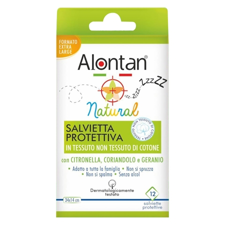 Alontan natural salvietta antizanzare 12 pezzi