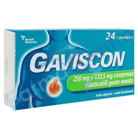 GAVISCON 24 CPR MENTA 250MG