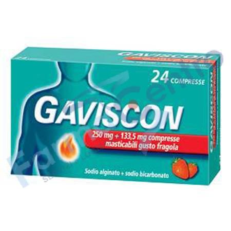 GAVISCON 24 CPR FRAGOLA 250MG