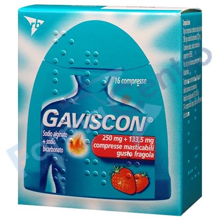 GAVISCON COMPRESSE FRAGOLA 16CPR 250MG